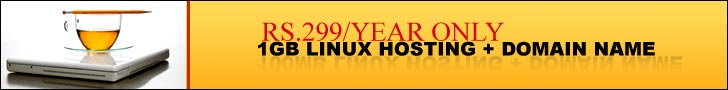 RS.299 per year only.1GB Linux hosting + Domain name.